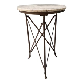 French Directoire Gueridon Table With Marble Top