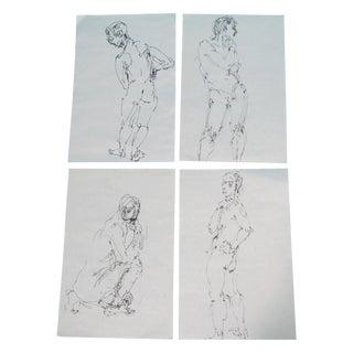 Male Nude Studies - Set of 4
