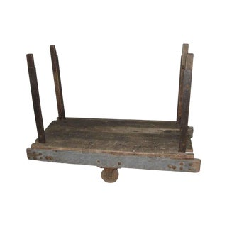 Antique Rustic Factory Cart