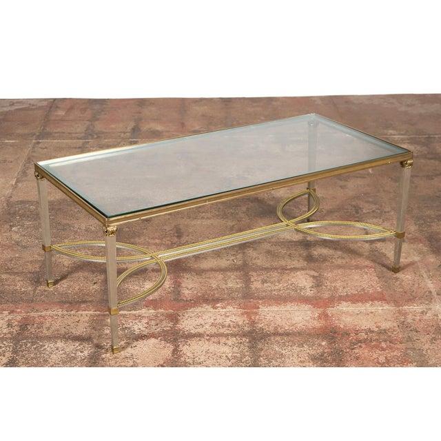Hollywood regency mix metal bronze coffee table chairish for Bronze metal coffee table