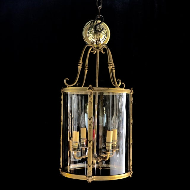 Image of French Style Glass Hanging Lamp