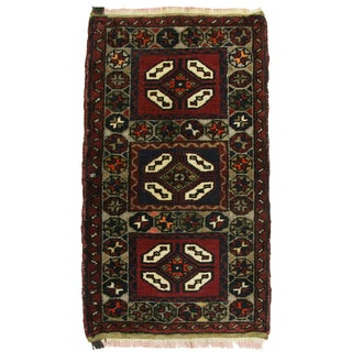 "Vintage Kurdish Carpet - 1'9"" X 2'11"""