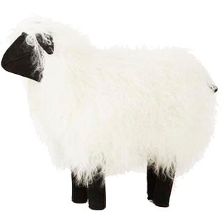 Medium Lalanne Style Tibetan Lamb Sheep in White