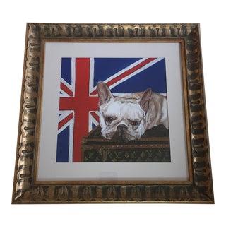Judy Henn White Frenchie Louis Vuitton Dog Print