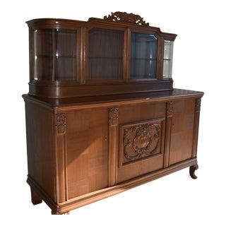 1900s Victorian Walnut Buffet