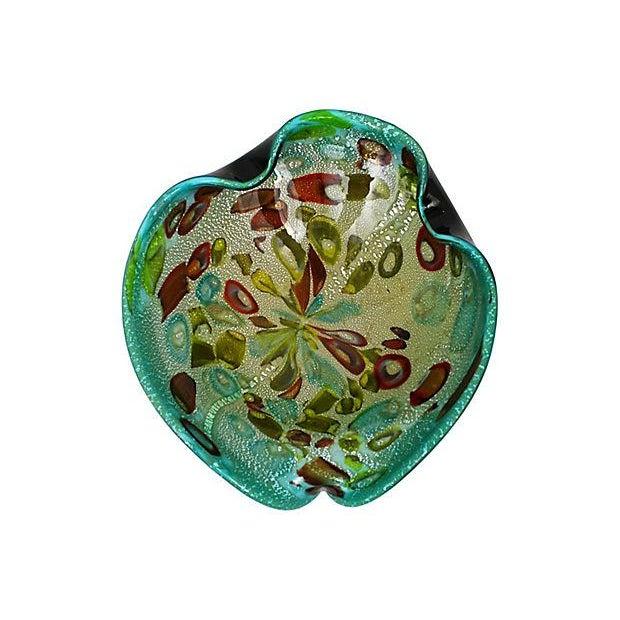 Murano Aventurine Turquoise Bowl - Image 3 of 7