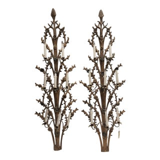 Gothic Style Antique Sconces - A Pair