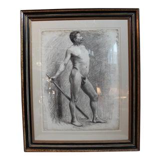 George Rabb Male Nude Drawing