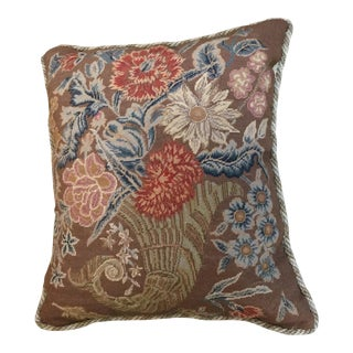 Cornucopia Needlepoint Pillow