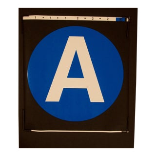 "New York City Subway ""A"" Train Sign"