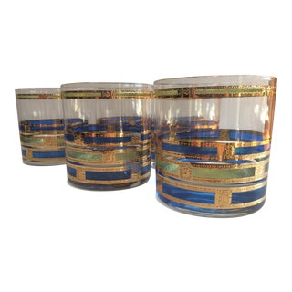Mid-Century Culver Empress Low Ball Glasses - Set of 6