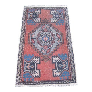 Orange Turkish Rug - 1′9″ × 3′