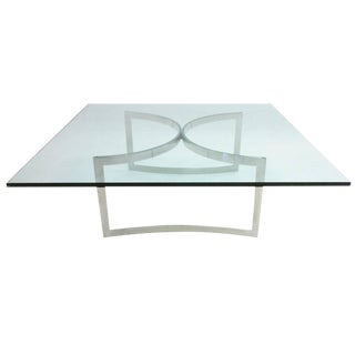 Henry Neuman for Pace Collection Stainless and Glass Coffee Table