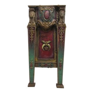 Victorian Mason Masonic Architectural Salvage Cast Iron Freemason Theater Seat