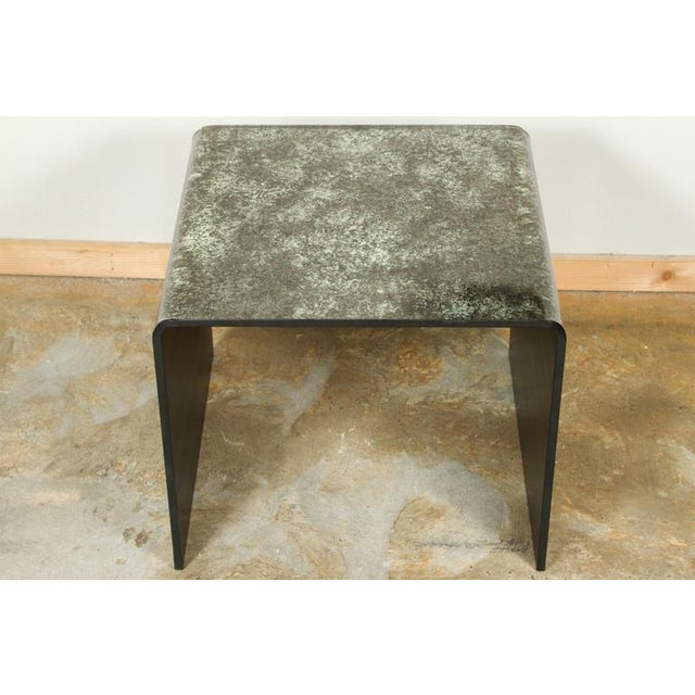 Image of Waterfall Reverse Painted Glass Side Table