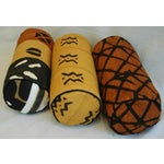 Image of Tribal Mud-Cloth Bolster Accent Pillows - Set of 3