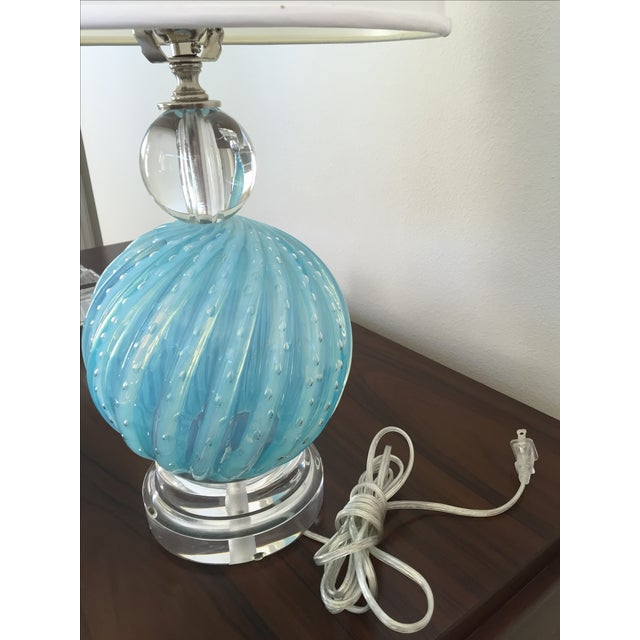 Murano Glass Table Lamps - Image 9 of 10