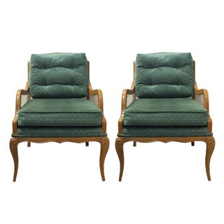Mid-Century Solid Wood Armchairs - A Pair