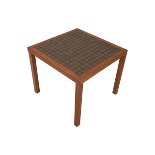 Gordon Martz Gray Slate Tile Top Side Table