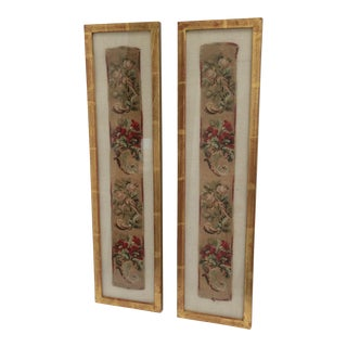 Framed Antique Textiles - A Pair
