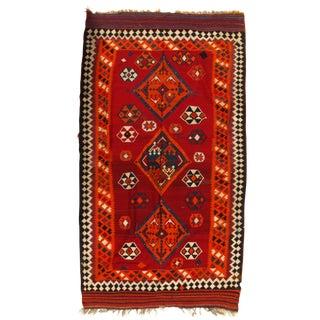 "Vintage Persian Kilim Rug - 5'8"" X 9'8"""