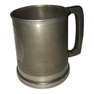 1935 English Boxing Trophy textured Stein Mug
