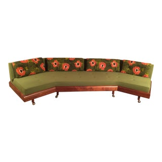 Adrian Pearsall Green Floral Sofa