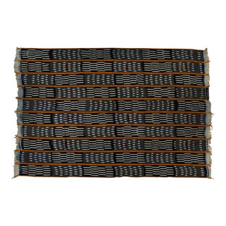 African Baule Ikat Wrap Cotton Cloth
