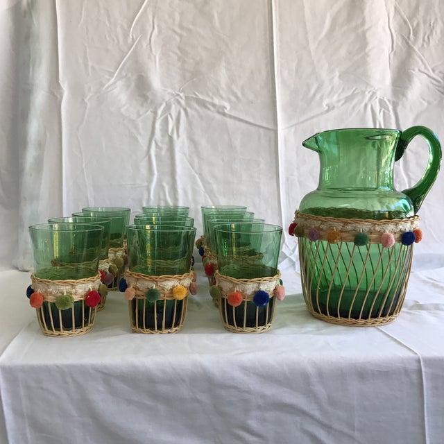 Fiesta Green Glass Beverage Set - Set of 13 - Image 2 of 6