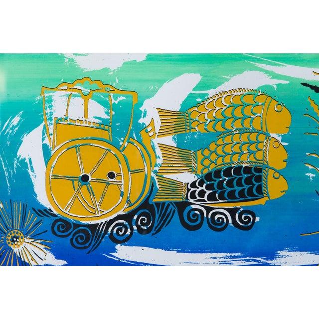 Barbara Vada Benson Seascape Serigraph - Image 5 of 6
