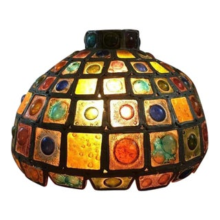 Mid-Century Multicolored Pendant Lamp