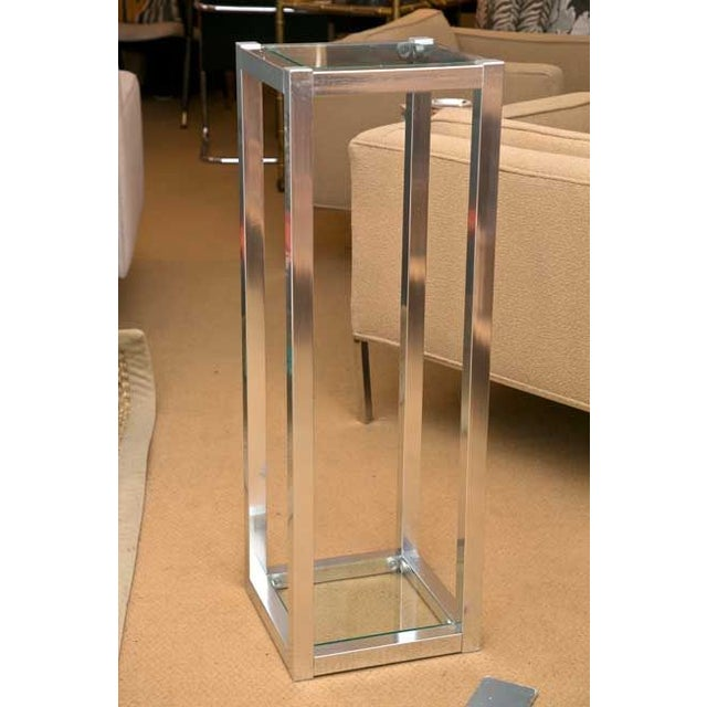 1970's Metal Sculpture Stand - Image 2 of 4