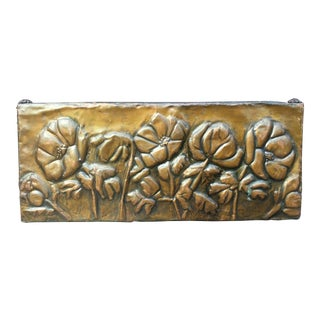 Circa 1910 Arts & Crafts Tooled Copper Poppy Motif Box