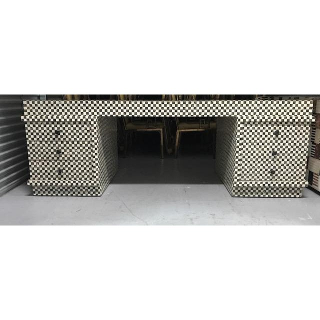 Marble Inlay Checkered Desk - Image 7 of 7