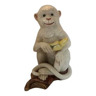 Italian Smiling Monkey With Banana Figurine