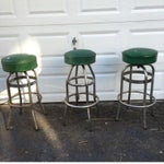 Image of Vintage Retro Green Diner Stool