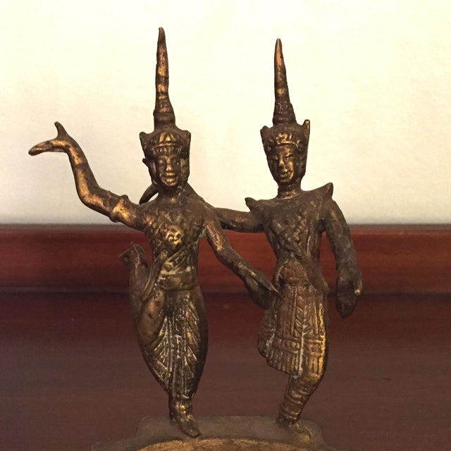 Brass Thai Asian Dancing Ganesh Ashtrays - A Pair - Image 5 of 7