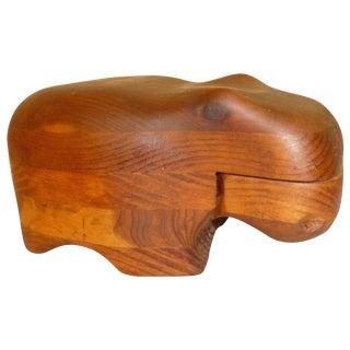 Vintage Deborah Bump Hippo Trinket Box