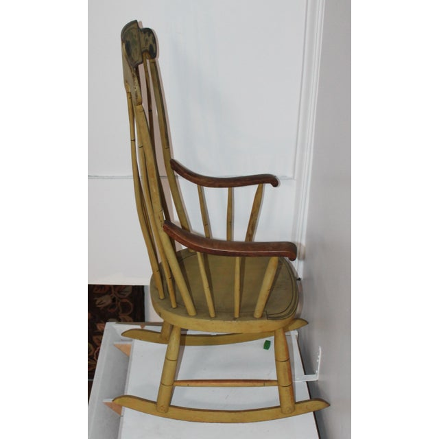 19th Century Fancy Original Painted Rocking Chair from New England - Image 6 of 10