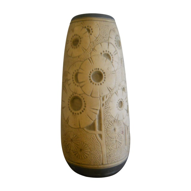 Image of Weller Burntwood Floral Design Vase