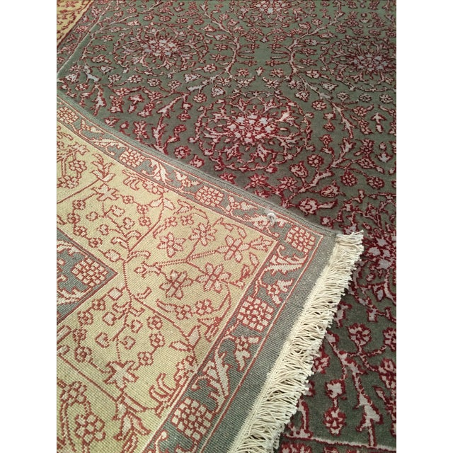 """Pasargad Hand-Knotted Tabriz Rug - 5'8"""" X 8' - Image 4 of 4"""