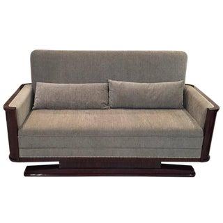 Circa 1930 French Art Deco Macassar Sofa