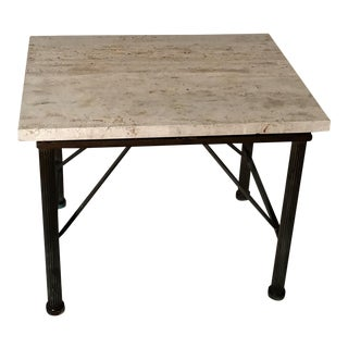 Travertine Indoor/Outdoor Side Table