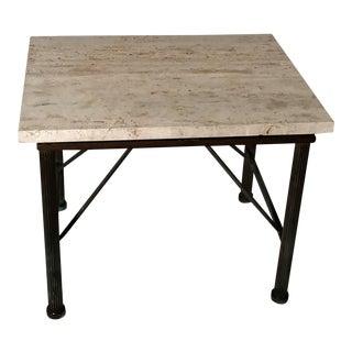 Travertine Indoor/Outdoor Side Table