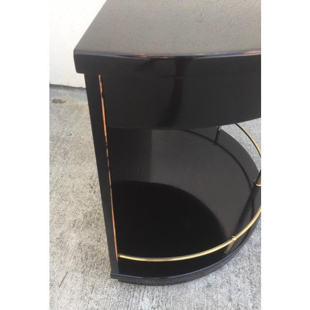 Henredon Black Lacquered Side Tables A Pair Chairish