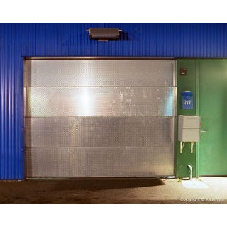 """Shiny Door"" Night Photograph by John Vias"