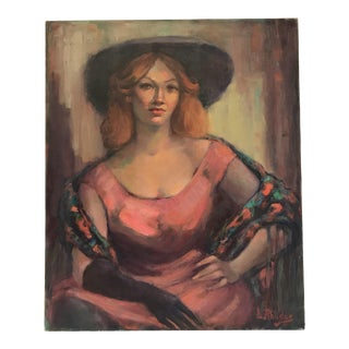Lady in Pink Oil Painting by Lillian Rhodus
