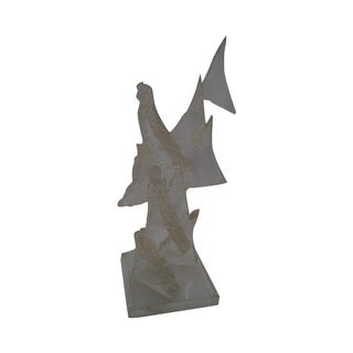 Varges Stacking Triangle Lucite Sculpture