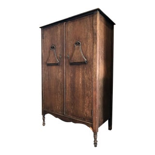 Antique Wood Italian Armoire