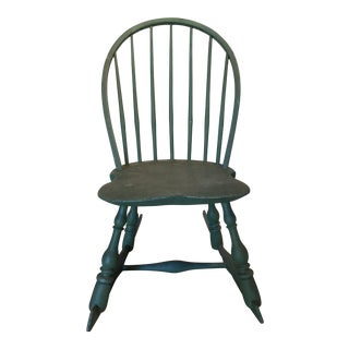 Painted Antique 19th Century Windsor Rocking Chair